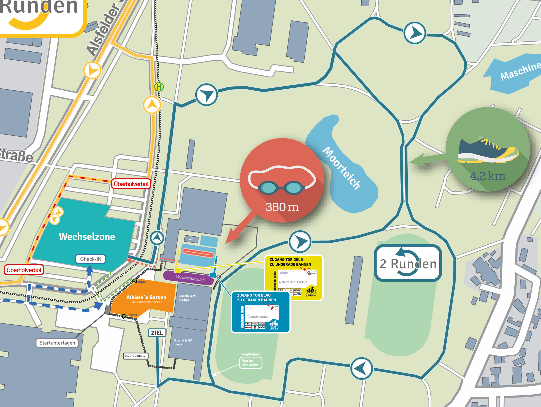Strecken Triathlon Darmstadt Lauf